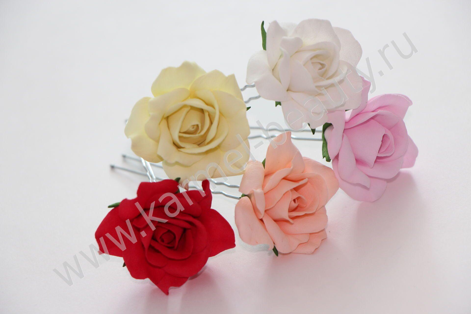 Цветочки для волос на шпильках